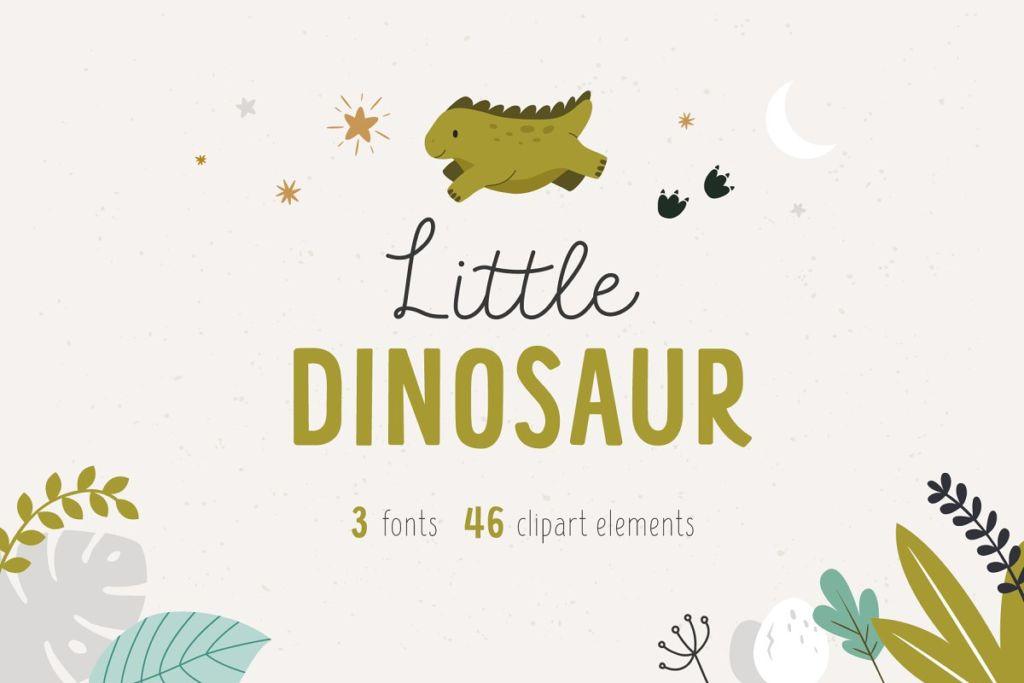 Little dinosaur   Cute Font