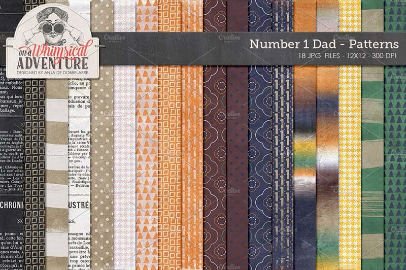 Patterned papers Father's Day