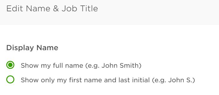 名前表記の選択