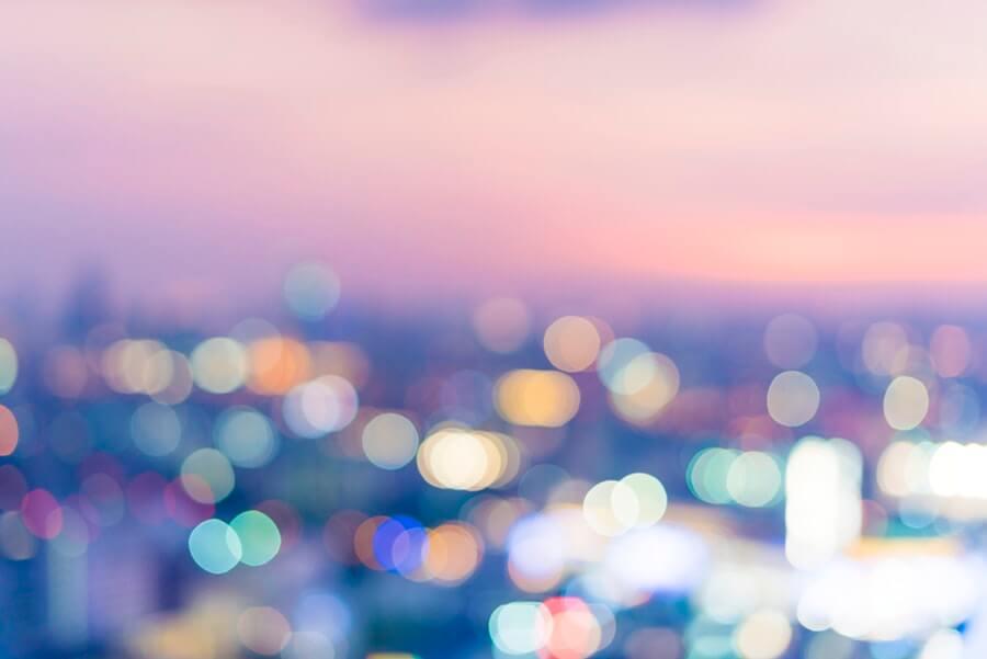 夕暮れどきのキラキラの空
