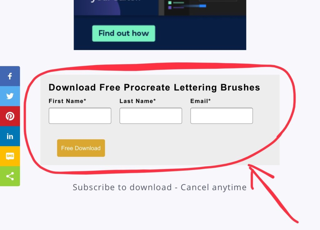 Download Free Procreate Lettering Brushes