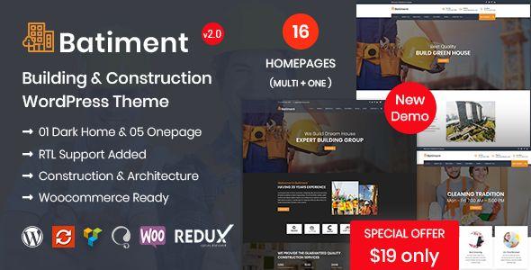 Batiment - Construction & Building WordPress Theme