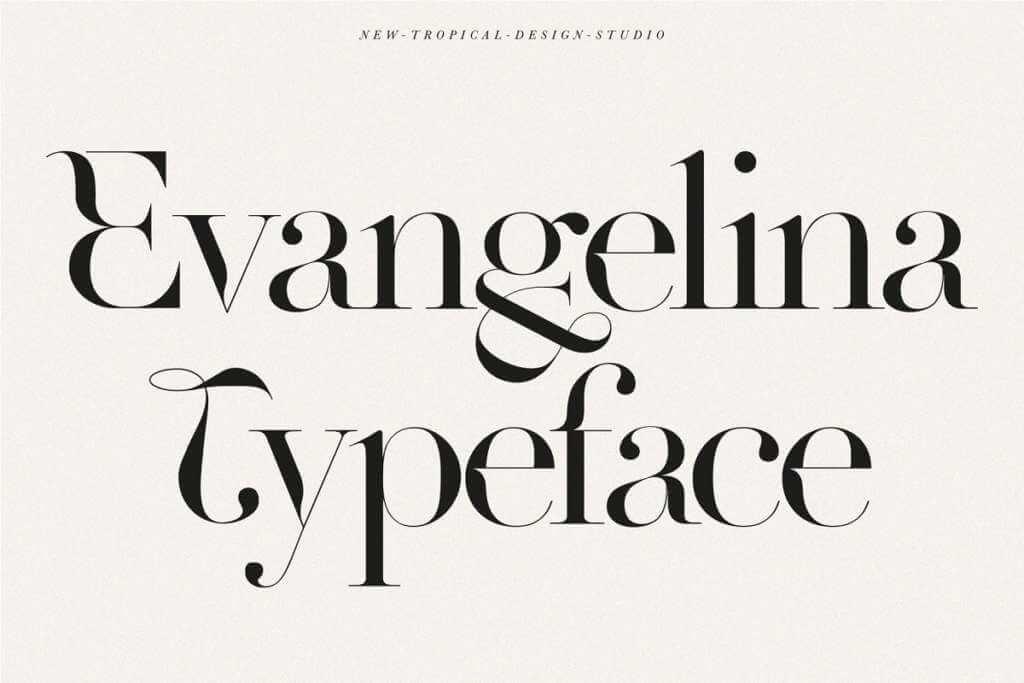 Evangelina - Fashion Display Font