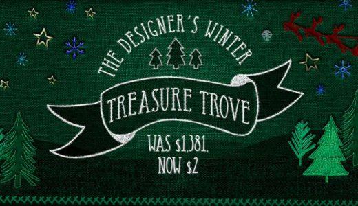 【販売終了】冬や年末年始に使えるイラスト・フォント・テクスチャ素材集が2ドル【Design Cuts英語サイト】