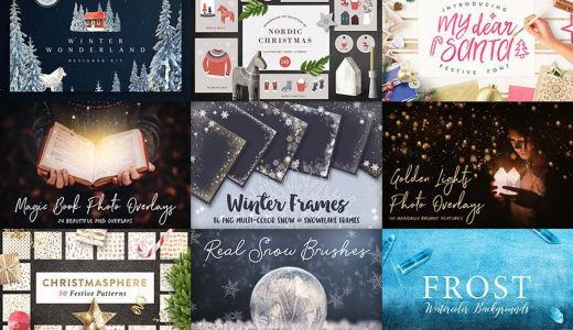 自腹レビューつき!クリスマス素材バンドルが$29で2週間限定再販中【Design Cuts英語サイト】