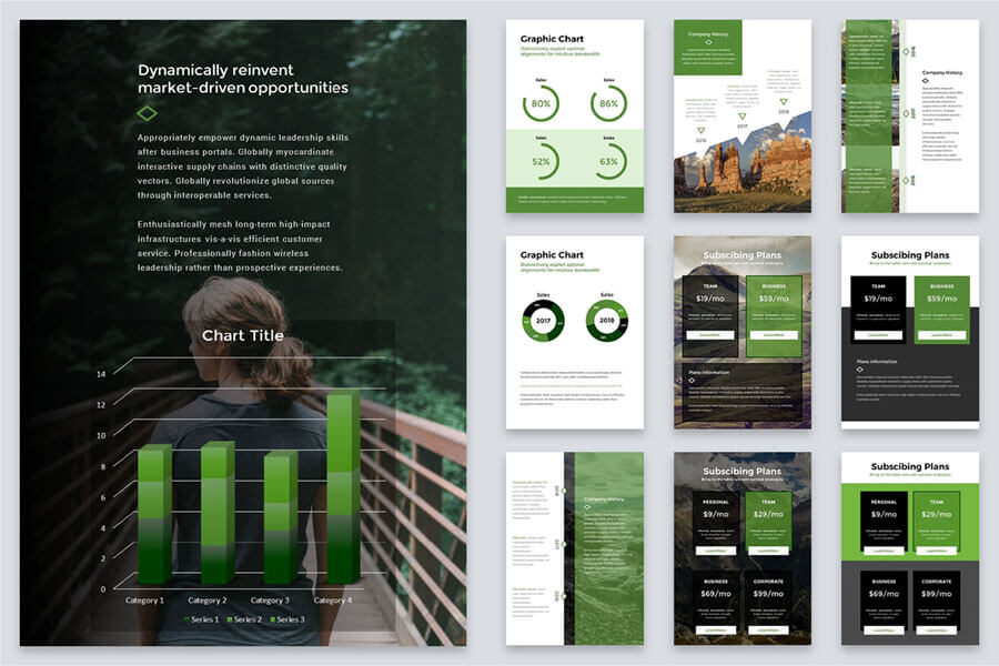 A4 Elevation Powerpoint Template