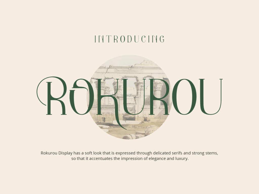 ROKUROU DISPLAY FONT