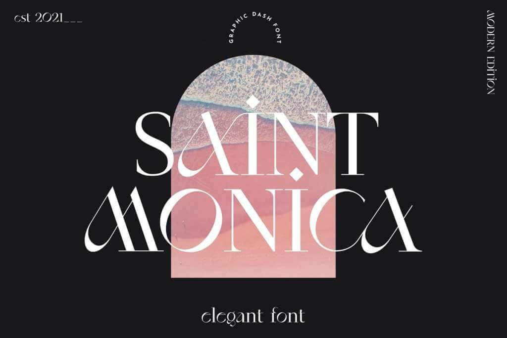 SaintMonica - Elegant Ligatures Font