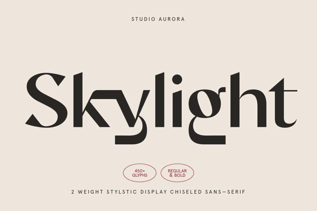 Skylight – Display Sans-Serif Font