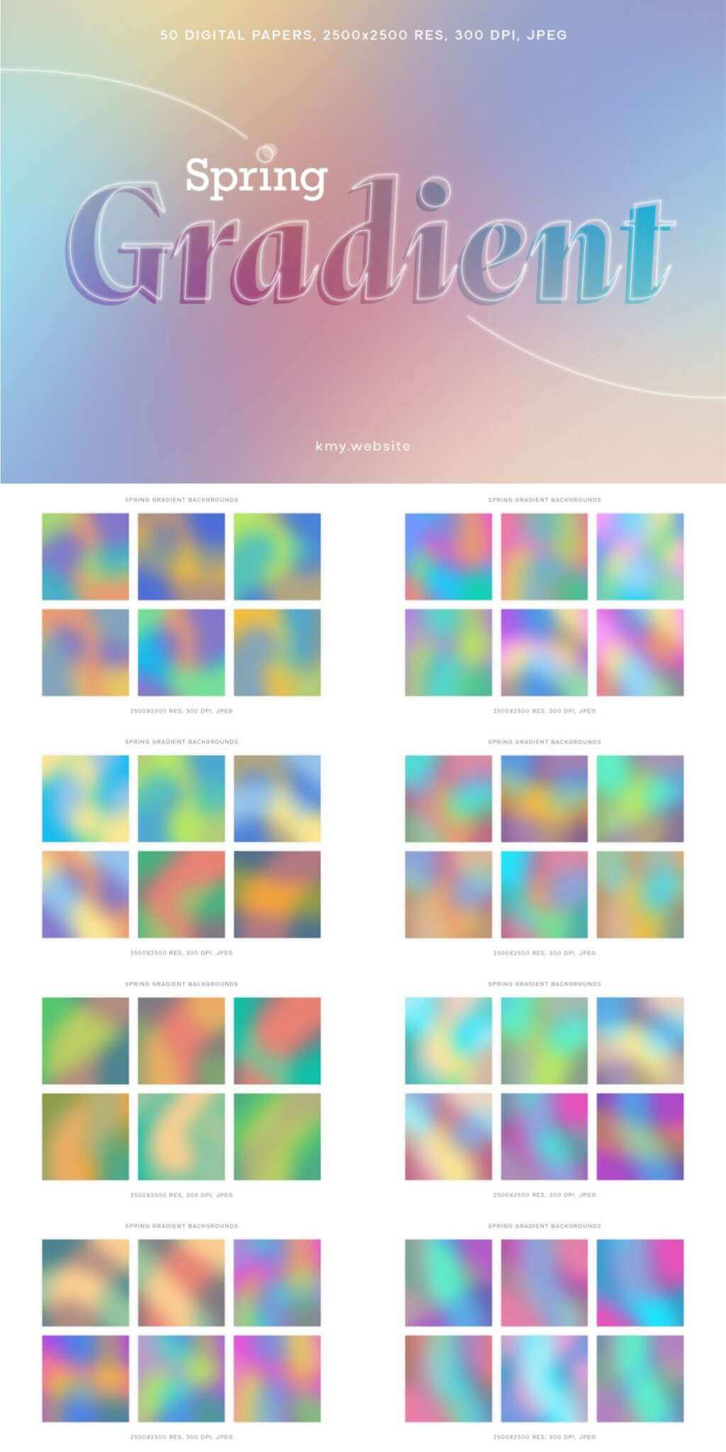 spring-gradient-backgrounds