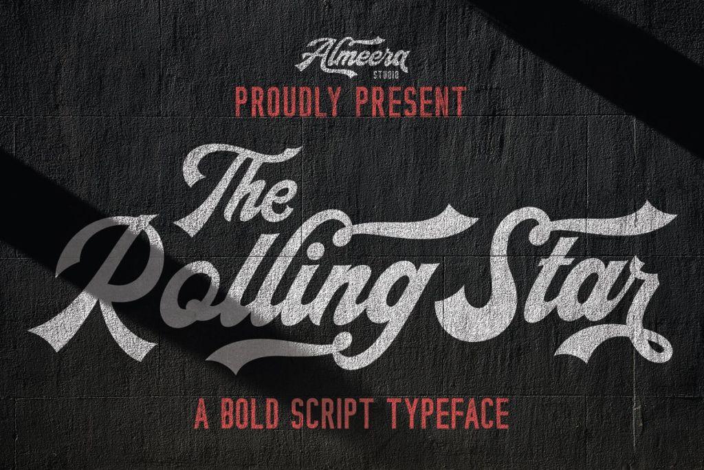 The Rollingstar - Stylish BoldScript