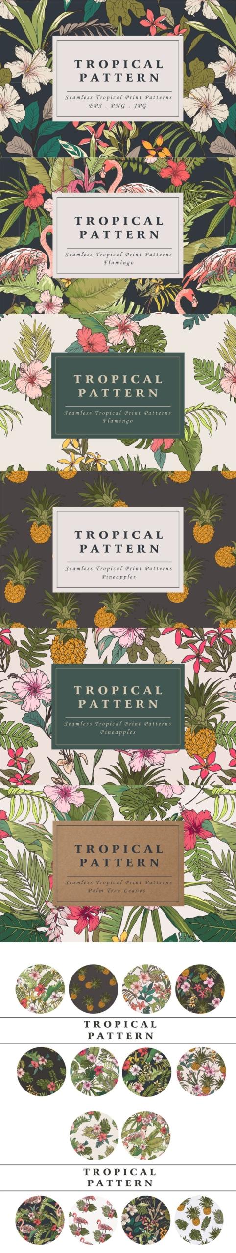 Tropical Flower Patterns