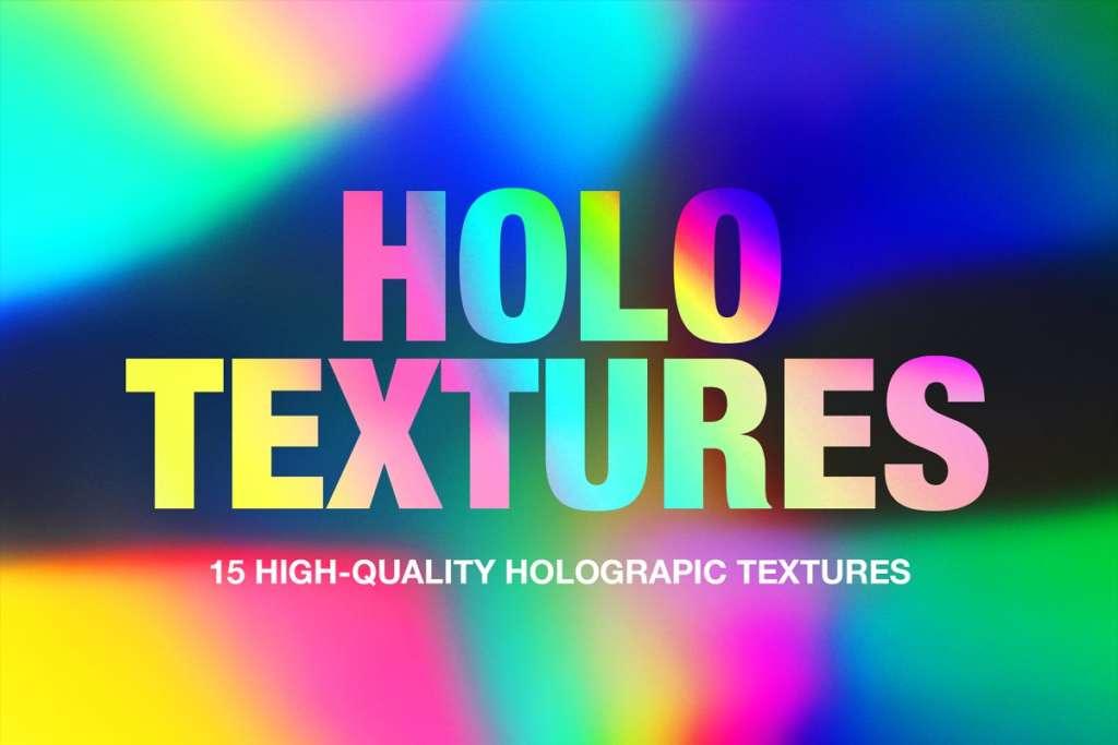 Holographic Foil Gradient Textures