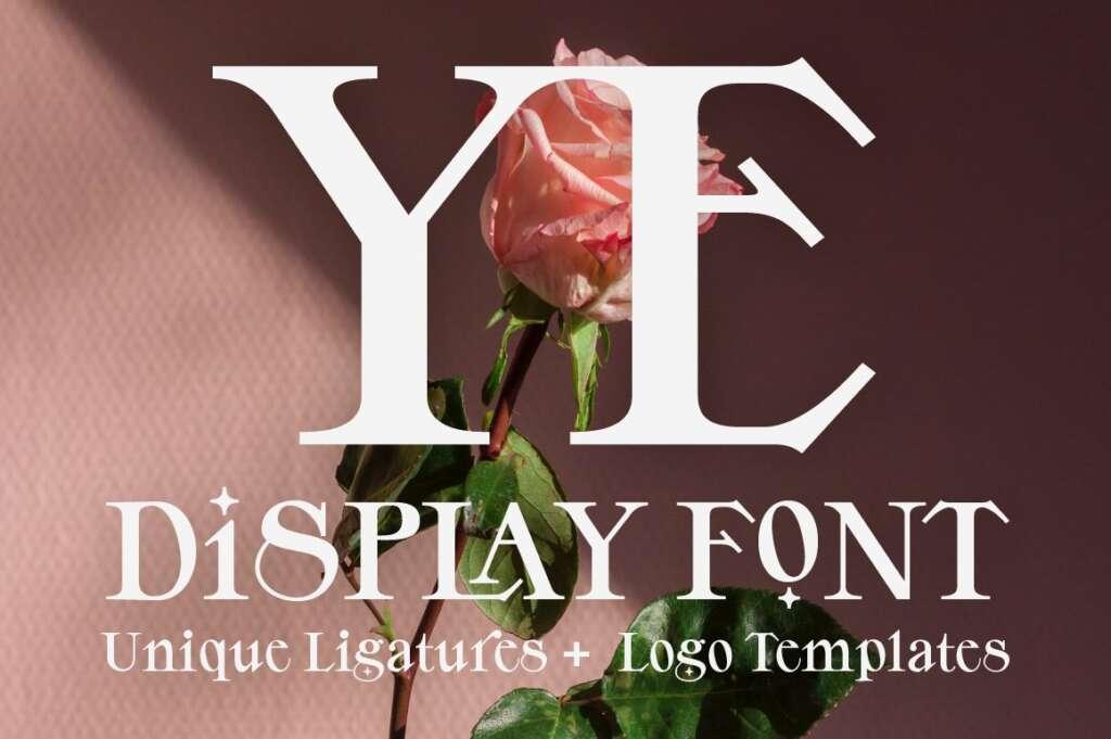 YE: Bold Display Font + Logos